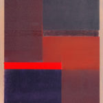 Rote Gerade • 2000 • 60 x 50 cm • Öl auf Leinwand
