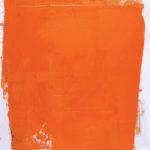 Rot-Variation 1  •  1994 •  120 x 110 cm • Mennige auf Leinwand