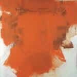 Rot-Variation 10  •  1998 •  111 x 109 cm • Mennige auf Leinwand