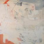 Rot-Variation 11  •  1998 •  111 x 109 cm • Mennige auf Leinwand