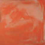 Rot-Variation 13  •  1998 •  111 x 109 cm • Mennige auf Leinwand