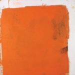 Rot-Variation 14  •  1989 •  111 x 109 cm • Mennige auf Leinwand