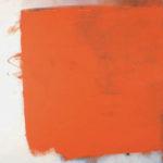 Rot-Variation 15  •  1989 •  111 x 109 cm • Mennige auf Leinwand