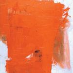 Rot-Variation 16  •  1993 •  120 x 110 cm • Mennige auf Leinwand