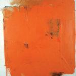 Rot-Variation 18  •  1993 •  120 x 110 cm • Mennige auf Leinwand