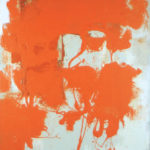 Rot-Variation 19  •  1994 •  120 x 110 cm • Mennige auf Leinwand