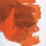Rot-Variation 2  •  1990 •  120 x 113 cm • Mennige auf Leinwand