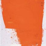 Rot-Variation 3  •  1994 •  120 x 110 cm • Mennige auf Leinwand