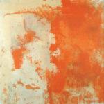 Rot-Variation 22  •  1994 •  120 x 110 cm • Mennige auf Leinwand