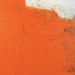 Rot-Variation 23  •  1990 •  50 x 70 cm • Mennige auf Leinwand