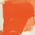 Rot-Variation 26  •  1992 •  120 x 110 cm • Mennige auf Leinwand