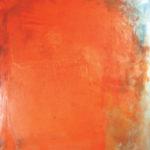 Rot-Variation 31  •  1991 •  190 x 170 cm • Mennige auf Leinwand