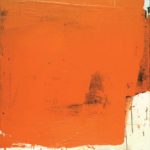 Rot-Variation 4  •  1994 •  120 x 110 cm • Mennige auf Leinwand