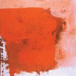 Rot-Variation 5  •  1990 •  120 x 113 cm • Mennige auf Leinwand