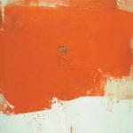Rot-Variation 5  •  1995 •  120 x 113 cm • Mennige auf Leinwand