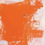 Rot-Variation 7  •  1995 •  120 x 110 cm • Mennige auf Leinwand
