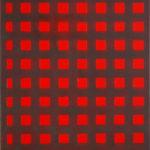 Raster V, rotbraun • 2009 • 50 x 40 cm • Öl auf Leinwand