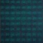 Raster VI, blaugrün  •  2009 •  50 x 40 cm • Öl auf Leinwand