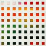 Polychromes Raster I  •  2009 •  50 x 40 cm • Öl auf Leinwand