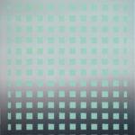 Mintfarbenes Raster • 2009 • 60 x 50 cm • Öl auf Leinwand