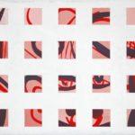 Raster, linear, 1 • 2010 • 50 x 40 cm • Öl auf Leinwand