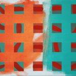 Raster, linear, 2 • 2010 • 50 x 40 cm • Öl auf Leinwand