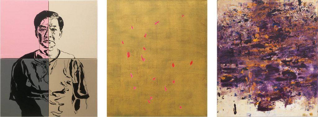 Abbildung dreier Gemälde von Bernhard Kock